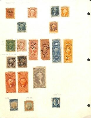 [OP3362] USA lot of stamps on 12 pages - see photos in description