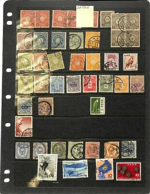 [OP3363] Asia lot of stamps on 12 pages - see photos in description