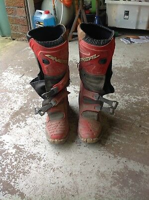 O Neal Motocross Boots Enduro Off Road size 10.5