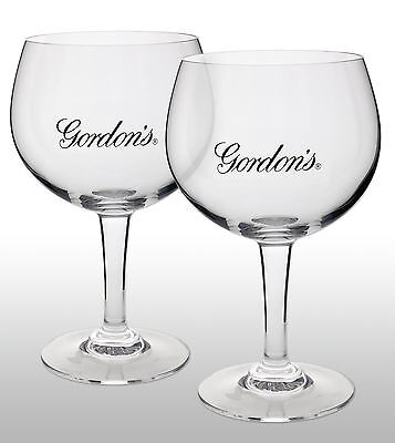 Gordon's Gin Goblet Glass X 2 New
