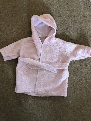 M&S baby girl pink dressing gown age 6-12 months