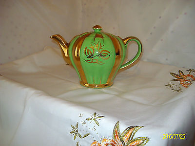 Vintage Sudlow 'rita' Pumpkin Shape Two Pint Teapot