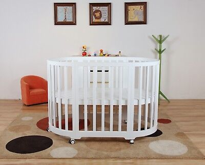 Modern 5 in 1 round Baby cot / Bassinet European designed and Australian tested