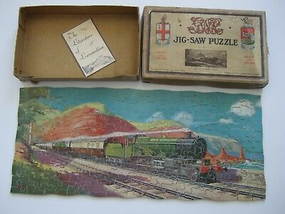 Vintage Great Western Railway GWR Jigsaw Puzzle The Cornish Riviera Express