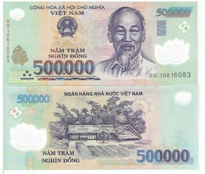 2 x 500,000 VIETNAM DONG BANK NOTES VIETNAMESE CURRENCY VND BANKNOTE