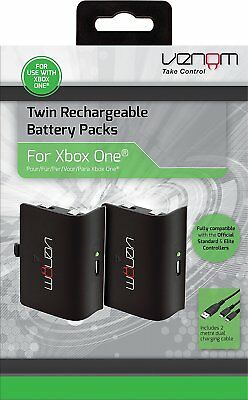 Venom Twin Rechargeable Battery Packs for Xbox One black