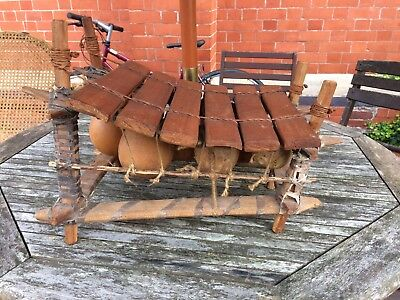 Ethnic Hand Made In Ghana 6 Key Xylophone