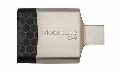 Kingston MobileLite G4 USB 3.0 Multi Card Reader - Black, Grey NEW