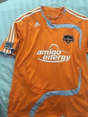 Houston Dynamo Usa 2009/2010/2011 Player Issue Home Football Shirt Jersey Adidas