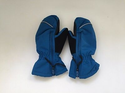 Polarn O Pyret Blue Waterproof Gloves Mittens Age 1-2 Years EXCELLENT CONDITION