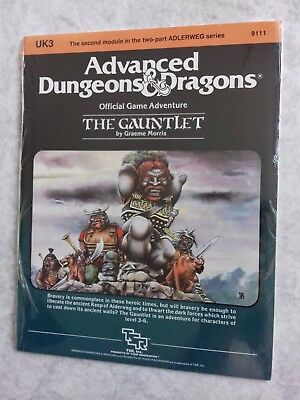 UK3 THE GAUNTLET ~* NEW SEALED & still in SHRINK WRAP *~ AD&D TSR Low S/H