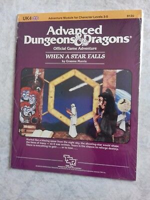 UK4 WHEN A STAR FALLS ~* NEW SEALED & still in SHRINK WRAP *~ AD&D TSR Low S/H
