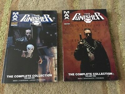 Punisher Max Complete Collection Volume 1 & 2 Marvel Comics