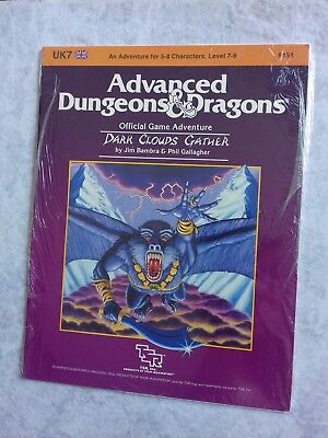 UK7 DARK CLOUDS GATHER ~* NEW SEALED & still in SHRINK WRAP *~ AD&D TSR Low S/H
