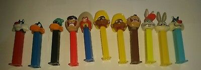 Looney Tunes PEZ Dispenser Lot 11pc bugs bunny, daffy duck, Taz, Speedy and more