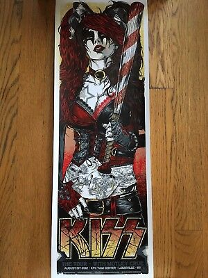 Limited Edition Kiss with Motley Crue Concert Poster