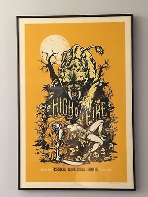 Limited Edition Signed Numbered High on Fire poster