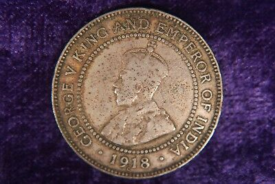 Jamaica One 1 Penny 1918 Old Coin e