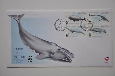 "South Africa 1998 Unaddressed Fdc ""whales Of The Southern Ocean"""