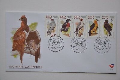 "South Africa 1998 Unaddressed Fdc ""south African Raptors"""