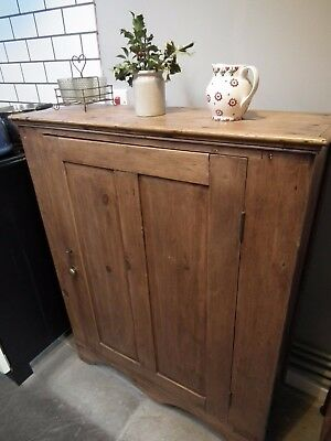 Original Georgian Pine Cupboard - stunning colour, patination and great size