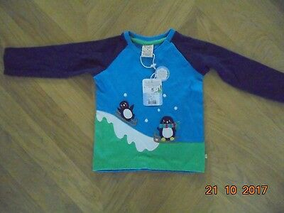 Frugi boys/girls penguin long sleeved  top 12-18 months BNWT