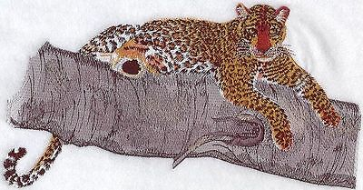 """Leopard, Wild Animal, Exotic Cat Embroidered Patch 9.1""""x 5.2"""""""