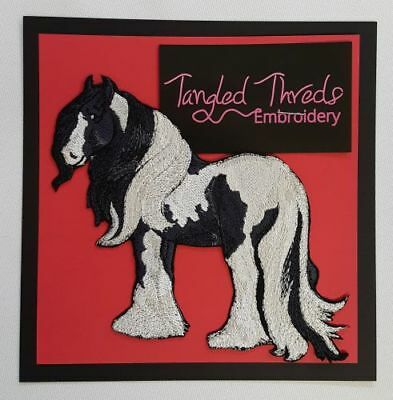 """Gypsy Vanner Horse Embroidered Patch Approx Size 5.9""""x4.9"""""""