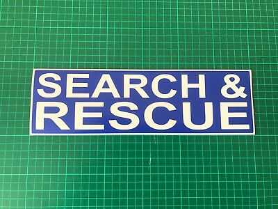 SEARCH & RESCUE REFLECTIVE Magnet 999 Mountain Emergency Service Magnetic 300mm