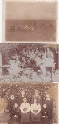 3 ORIGINAL VINTAGE  REAL PHOTOS OF UNKNOWN PEOPLE. (a)