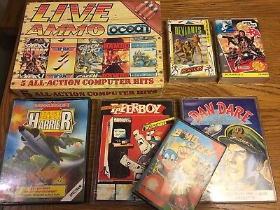 ZX Spectrum Games 48/128k job lot - 11 games inc Paperboy & Bombjack