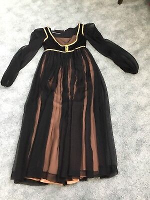 Halloween RENAISSANCE MEDIEVAL Black Dress Gown Costume ~ Adult M