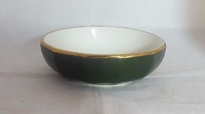 Beautiful Apilco Green and Gold Cereal Bowl