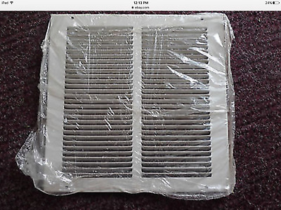 "NEW 650 Series HART & COOLEY 14""x14"" RETURN AIR GRILLE WHITE STEEL 043111"