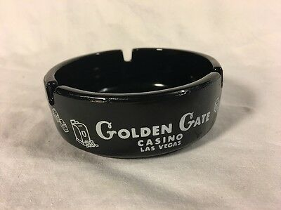 Vintage  Golden Gate Hotel & Casino Ashtray Downtown Las Vegas Nevada
