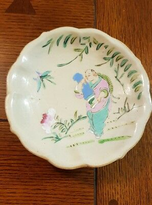 Antique Chinese bowl on foot small tazza