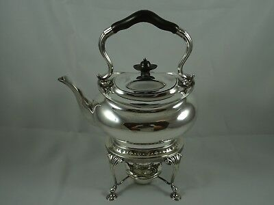 FINE, solid silver KETTLE on STAND, 1926, 1144gm
