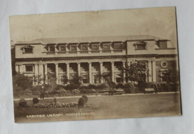 Middlesbrough, Carnegie Library Card 1
