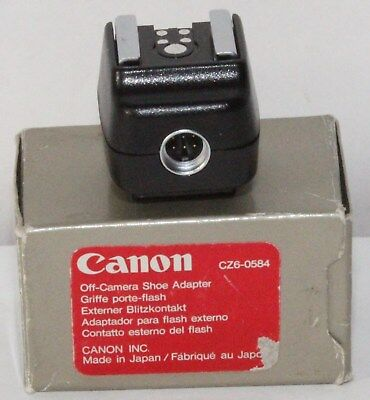 Canon Off Camera Flash Shoe Adapter Boxed in Excellent Condition