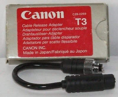 Canon T3 Cable Release Adapter Boxed in Excellent Condition