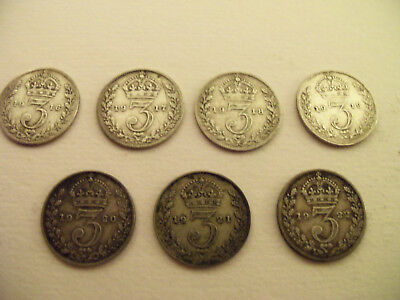 Silver Threepences 1916 To 1922