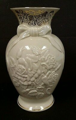 Lenox Roses Of Peace Millenium Edition Vase Fine Ivory China Limited Edition