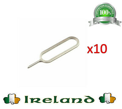 10 X Sim Card Removal Tray Pin Opener Tool For iPhone 3 4S 5 5S 6 ,7,7plus