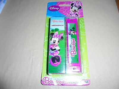 Disney Minnie Mouse Bow-tique Harmonica new on sealed card