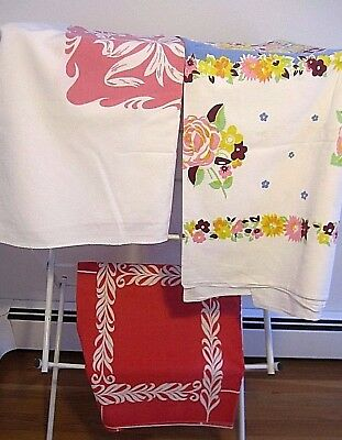 "LOT OF THREE VINTAGE ""cotton"" TABLE CLOTHS"