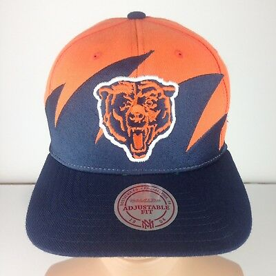Chicago Bears Mitchell   Ness Hat Snapback Cap NFL Football Notstalgia Navy  Orng 53ce9295c