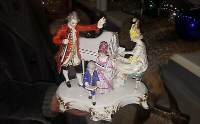 rare meissen porcelain group