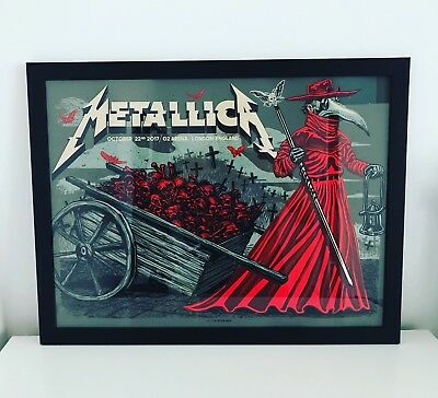 Metallica LONDON O2 arena Worldwired Tour  Numbered Event Poster Print