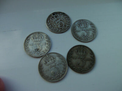 SILVER THREEPENCES - 1916 to 1920