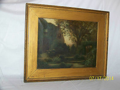 Frederick H.Clark Listed Artist Original Antique c1900 Oil On Canvas